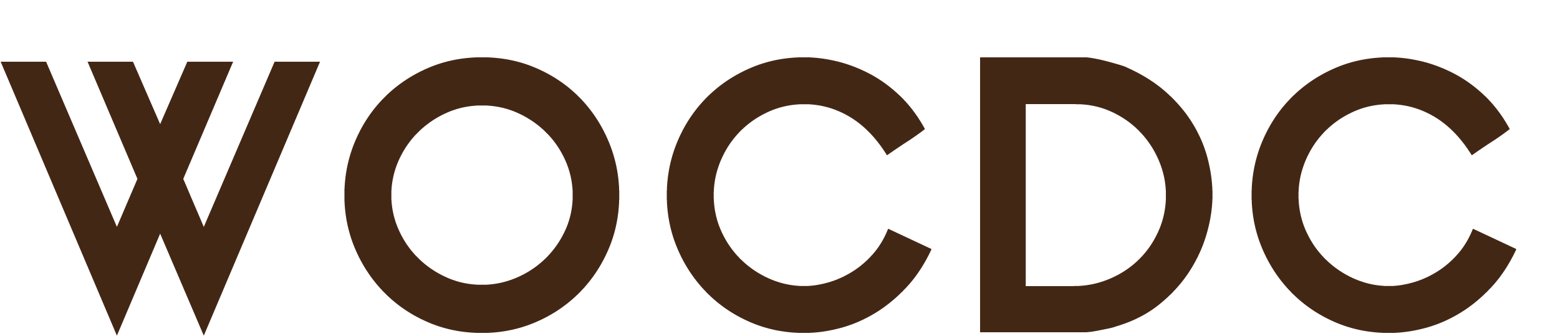 "WOCDC Logo in the colour ""brown""."