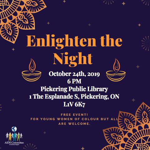 Enlighten the Night Event Flyer
