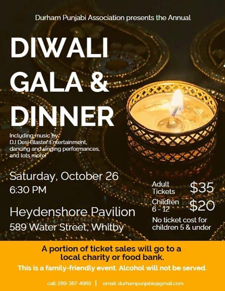 Diwali Gala & Dinner Event Flyer