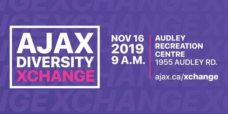 Ajax Diversity Exchange event flyer